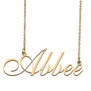 Custom Personalized Abbee Name Necklace
